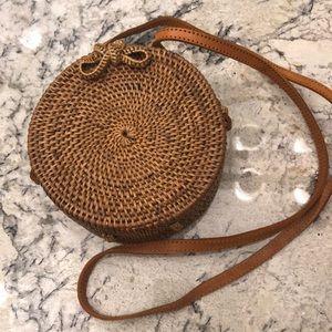 Round Basket Weave Cross Body